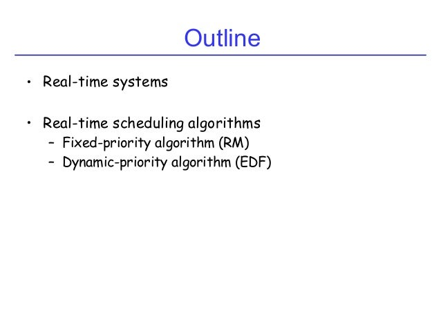 Real-Time Scheduling Slide 2