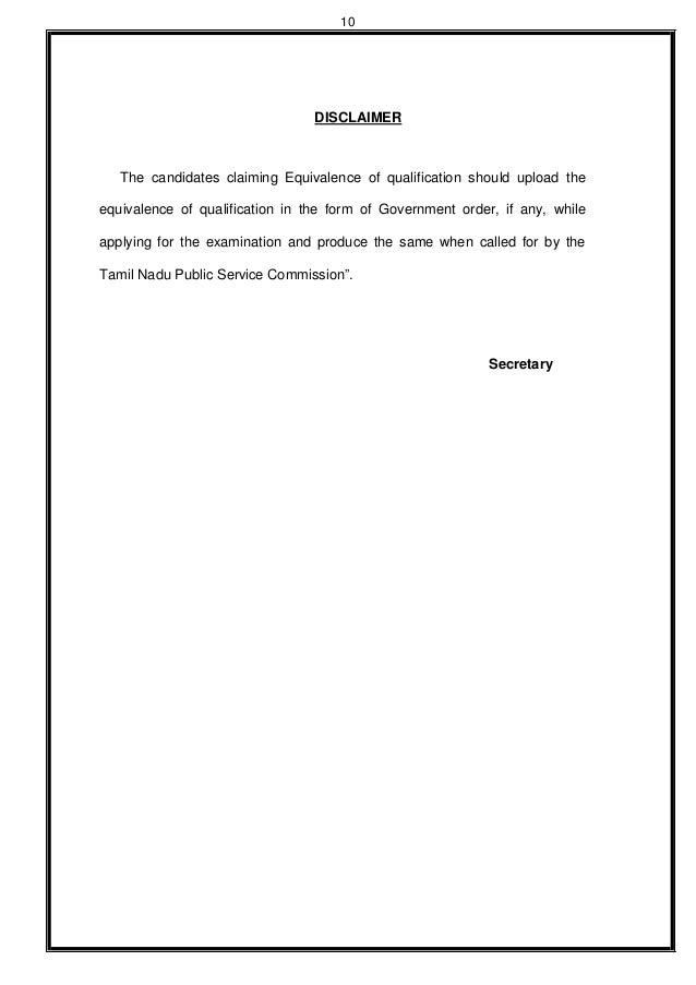 Tnpsc Recruitment Notification 2015