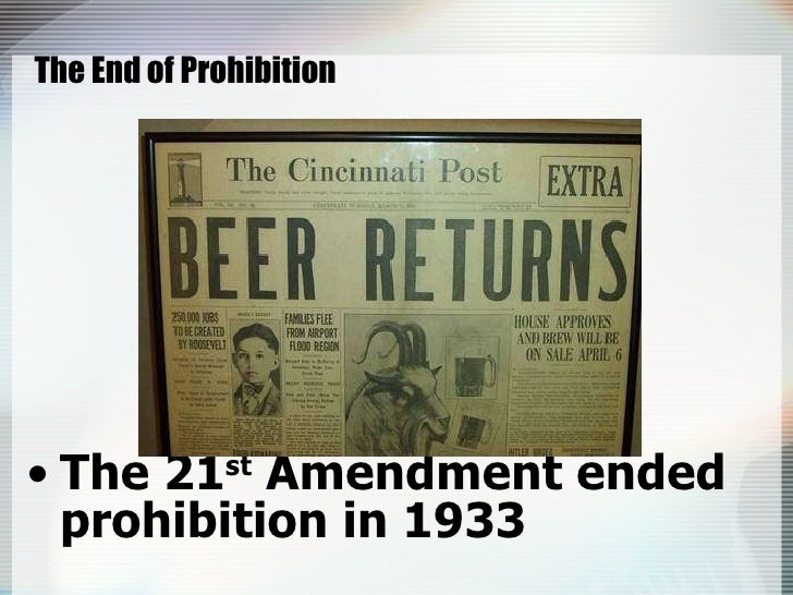 prohibition led to the rapid growth of organized crime Third, violent crime did not increase dramatically during prohibition  organized  crime may have become more visible and lurid during.
