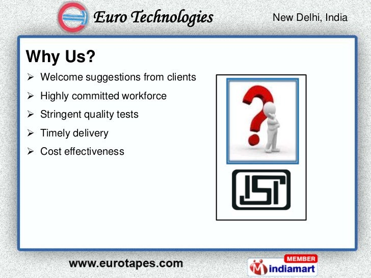 Euro Technologies      New Delhi, India                                      Kolkata, IndiaWhy Us? Welcome suggestions fr...