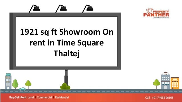 1921 sq ft Showroom On rent in Time Square Thaltej