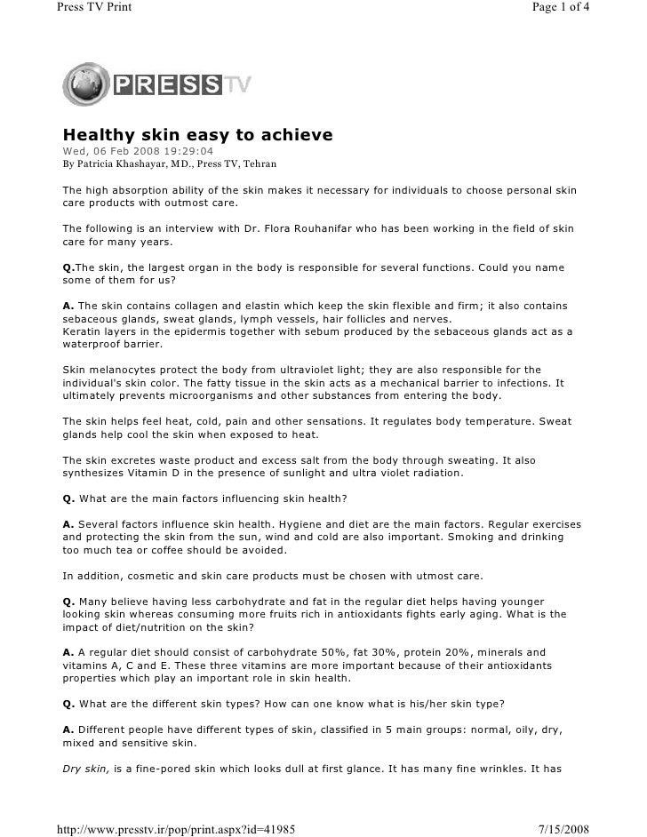 Press TV Print                                                                                Page 1 of 4      Healthy ski...