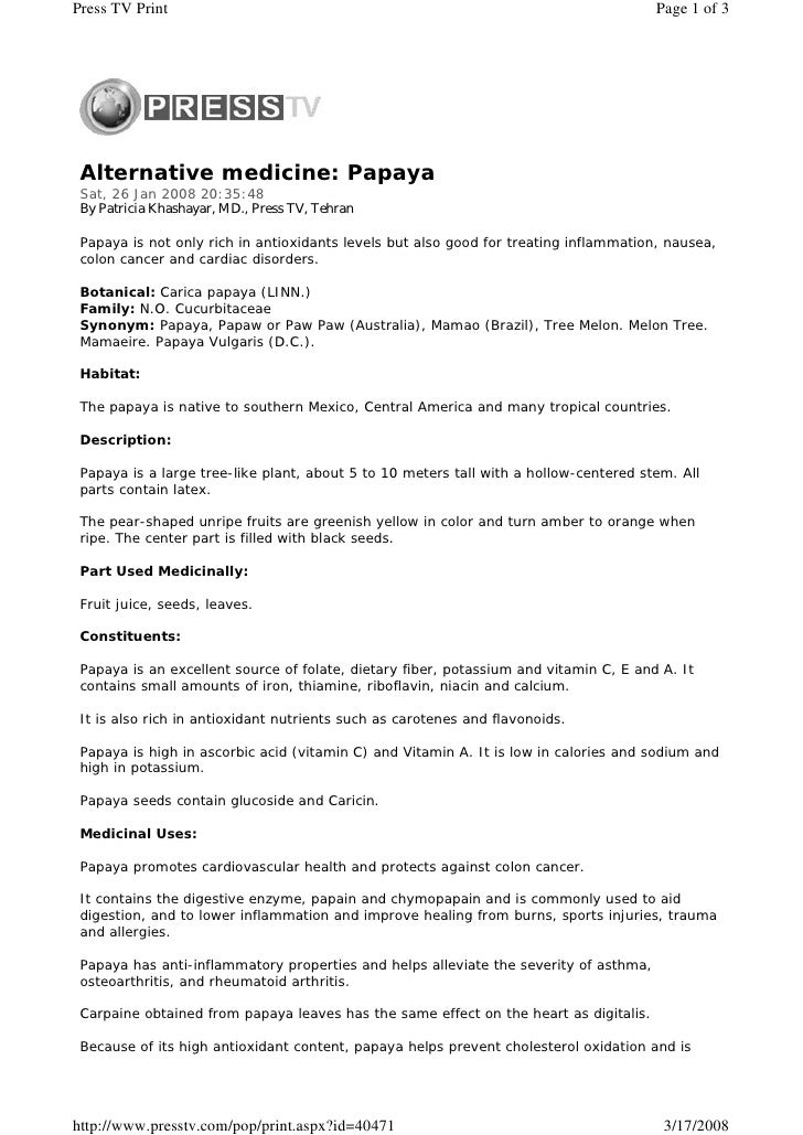 Press TV Print                                                                         Page 1 of 3      Alternative medici...