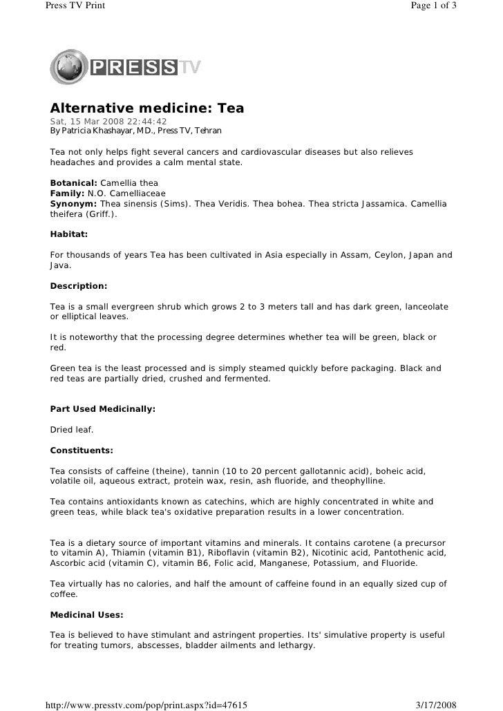 Press TV Print                                                                          Page 1 of 3      Alternative medic...