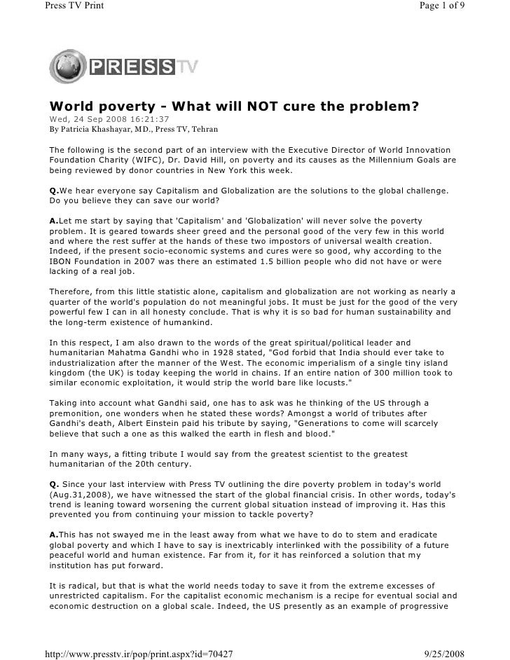 Press TV Print                                                                              Page 1 of 9      World poverty...
