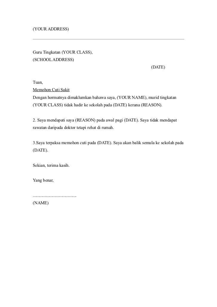 Contoh Surat Izin Cuti Melahirkan Untuk Guru Suratmenyuratnet