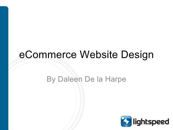 eCommerce Website Design By Daleen De la Harpe