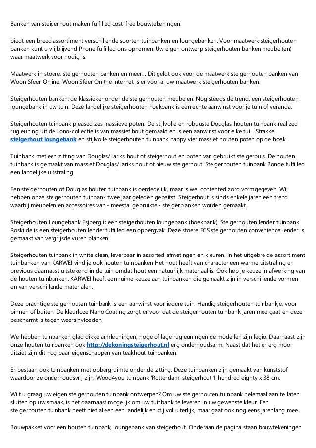 Afmetingen Tuinbank Steigerhout.Wat Zijn De Voordelen Van Steigerhout Tuinmeubel Op Langer Termijn