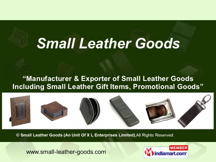 """"""" Manufacturer & Exporter of Small Leather Goods Including Small Leather Gift Items, Promotional Goods"""" Small Leather Goods"""