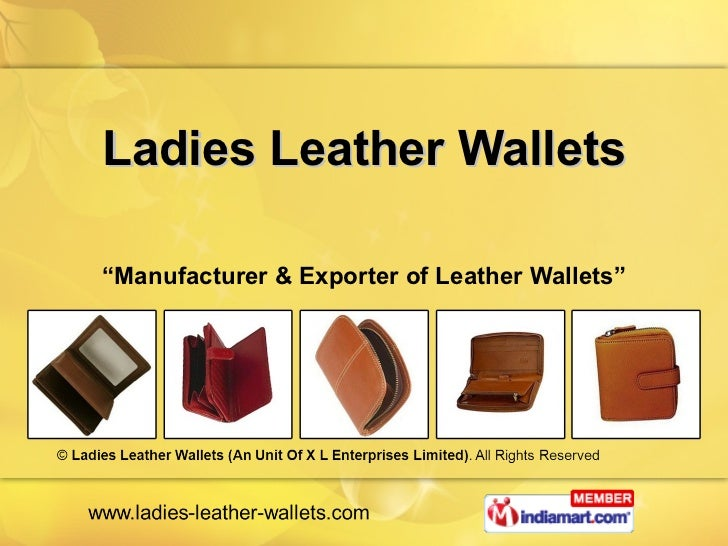 "Ladies Leather Wallets "" Manufacturer & Exporter of Leather Wallets"""