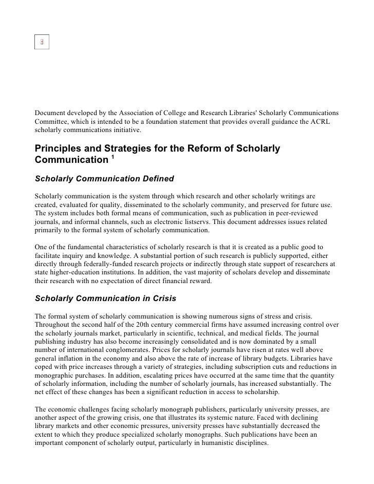 Document developed by the Association of College and Research Libraries' Scholarly Communications Committee, which is inte...