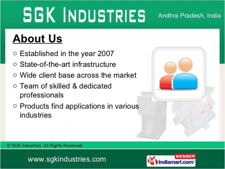 SGK Industries Andhra Pradesh India Slide 2