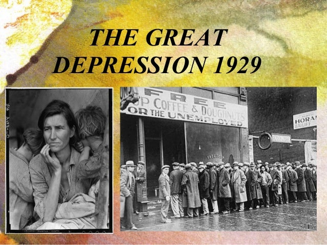 1929 Crash, Great Depression and New Deal
