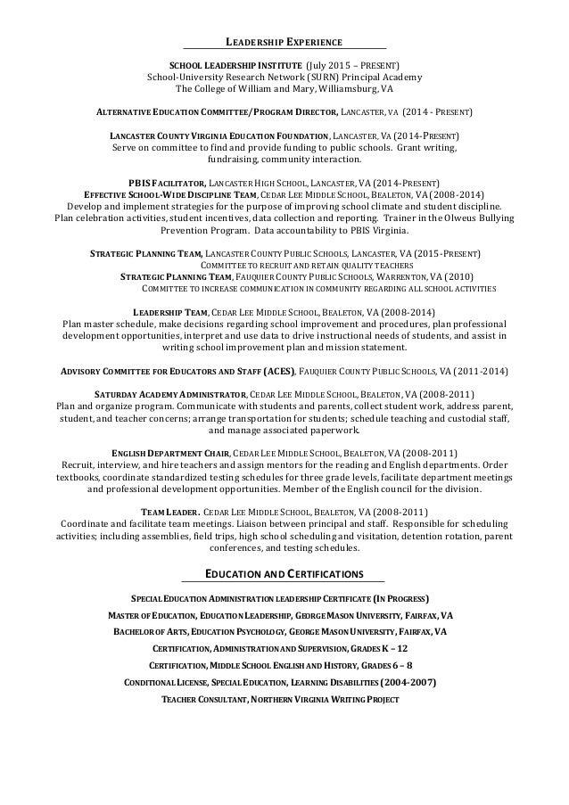 bohannan assistant principal resume