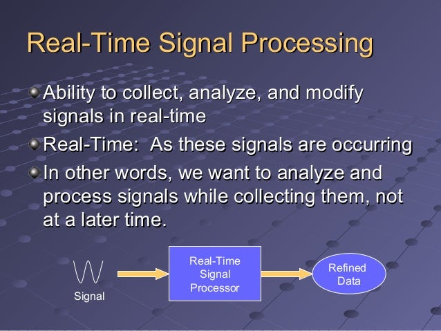 Real-Time Signal Processing:  Implementation and Application Slide 3