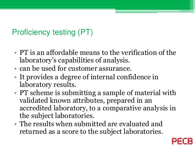 The Role Of Proficiency Testing In Laboratory Quality