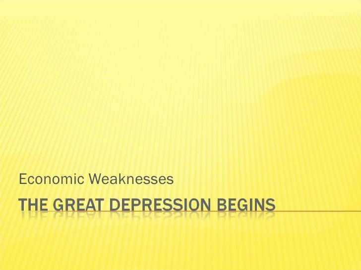 Economic Weaknesses
