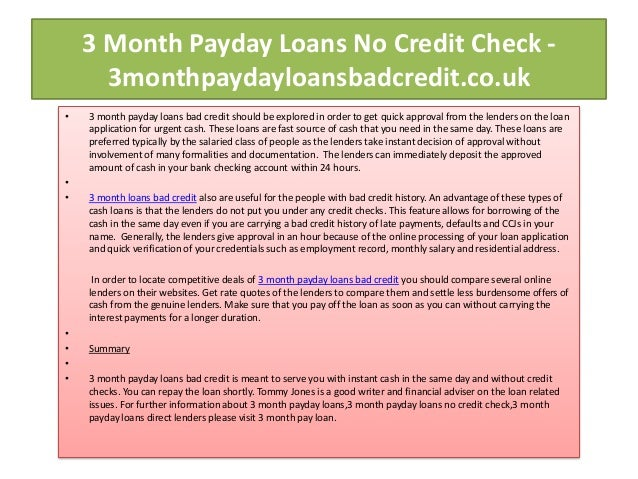 3 Month Payday Loans No Credit Check slideshare - 웹