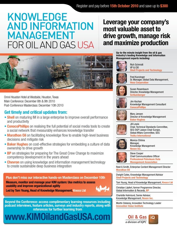 Knowledge & Information Management for Oil & Gas USA