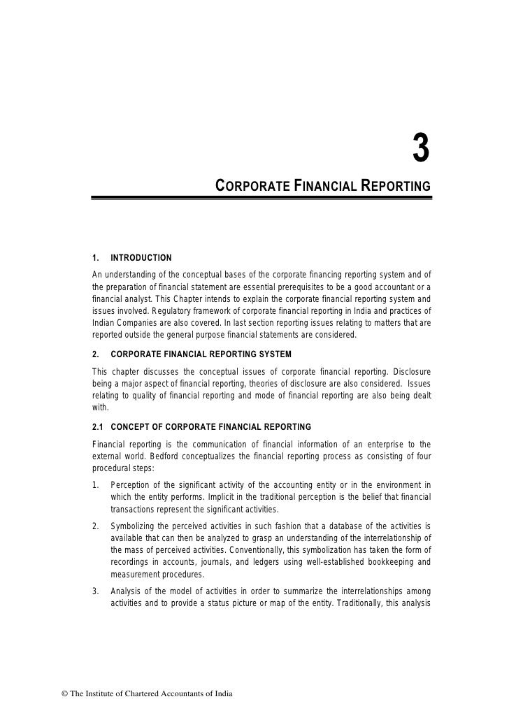 3                                            CORPORATE FINANCIAL REPORTING        1.    INTRODUCTION        An understandi...