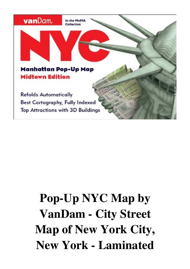 Central Park New York Map Pdf.Pop Up Nyc Map By Vandam City Street Map Of New York City New York