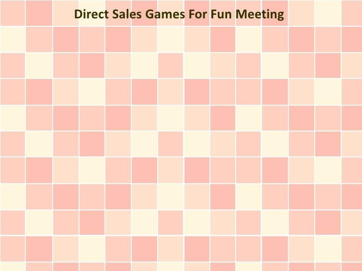 Direct Sales Games For Fun Meeting