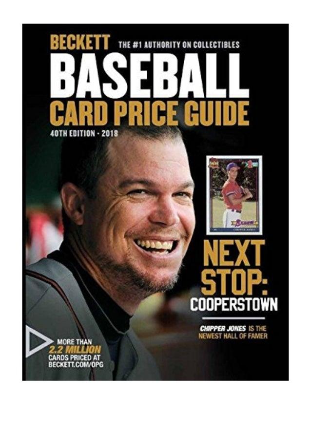 Beckett Baseball Card Price Guide 40 Pdf