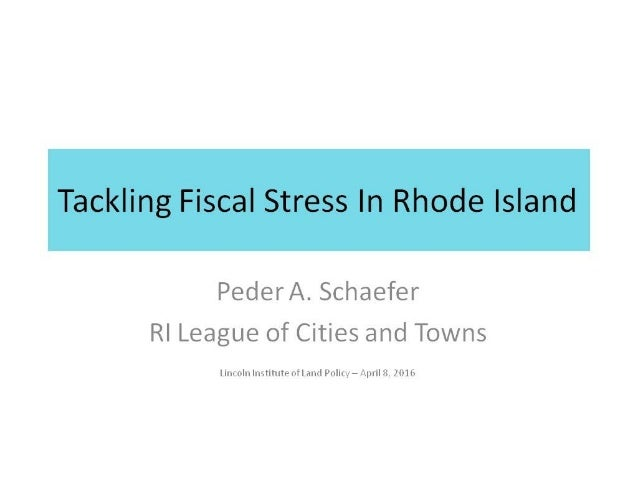 Tackling Fiscal Stress in Rhode Island