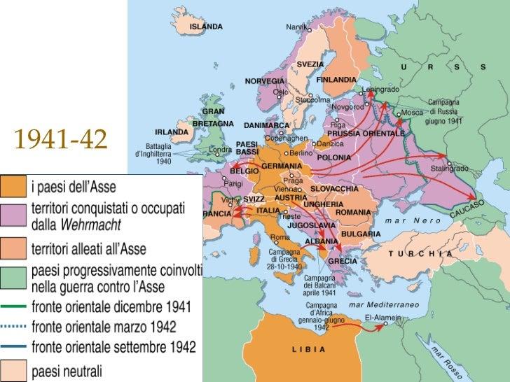 Cartina Europa 1938.1939 1948 Le Doppia Guerra Mondiale