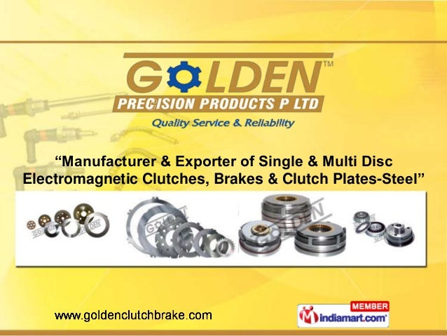 """""""Manufacturer & Exporter of Single & Multi Disc Electromagnetic Clutches, Brakes & Clutch Plates-Steel"""""""
