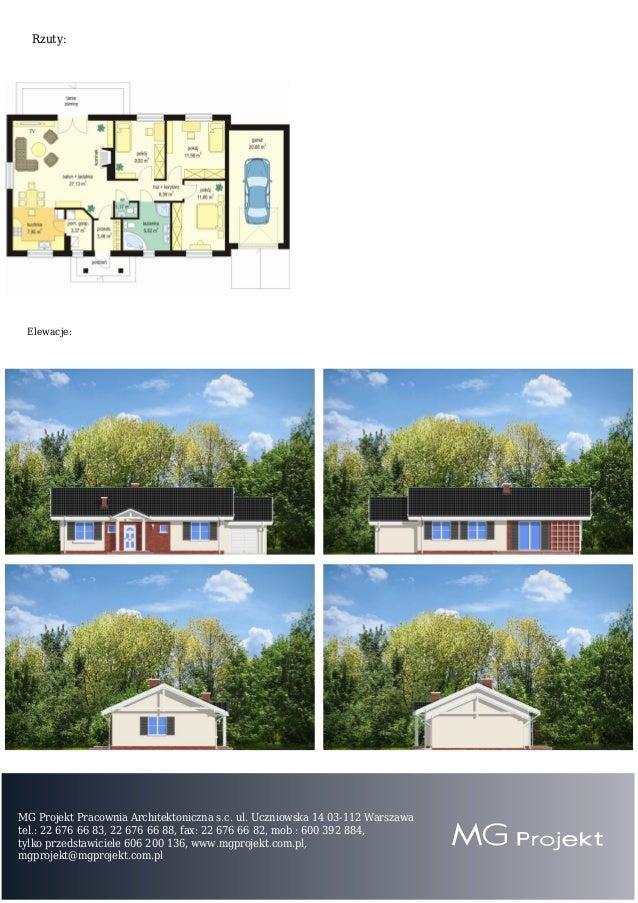 Projekt domu Słoneczny z garażem