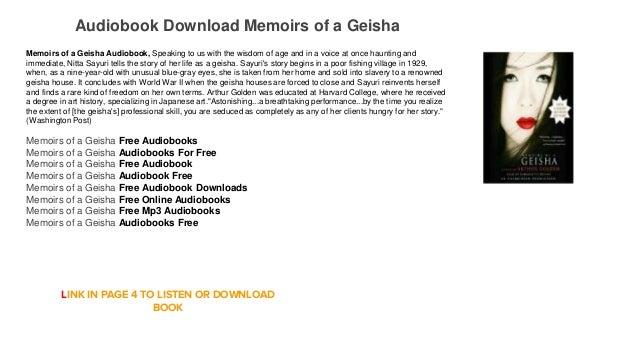 memoirs of a geisha audiobook free