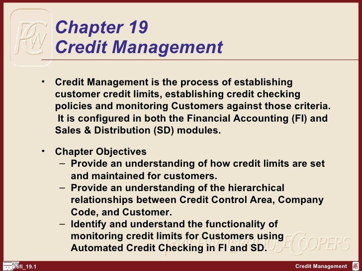 Credit Control Policy