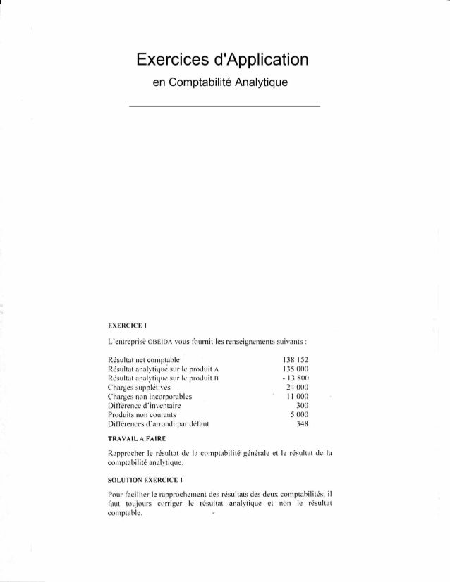 19411715 exercices-dapplication-en-comptabilite-analytique