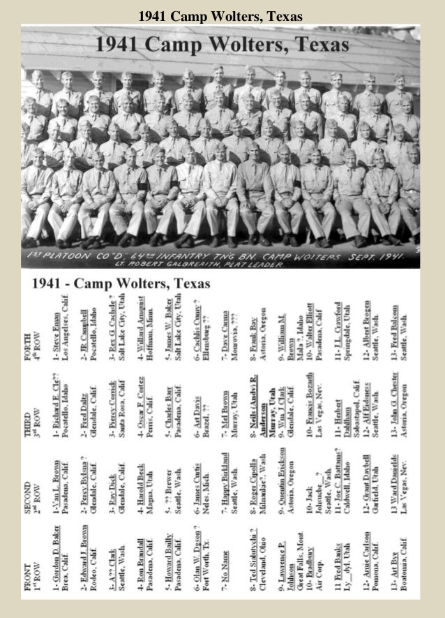 1941 Camp Wolters, Texas