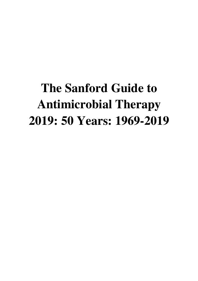 Sanford Antimicrobial Therapy Large