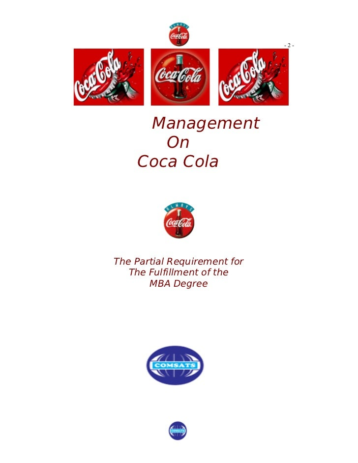 The Coca-Cola Co in Health and Wellness