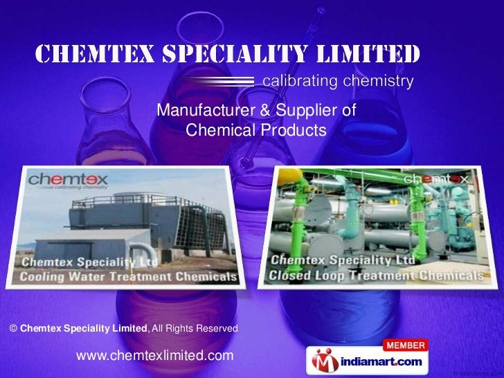 Manufacturer & Supplier of                                  Chemical Products© Chemtex Speciality Limited, All Rights Rese...