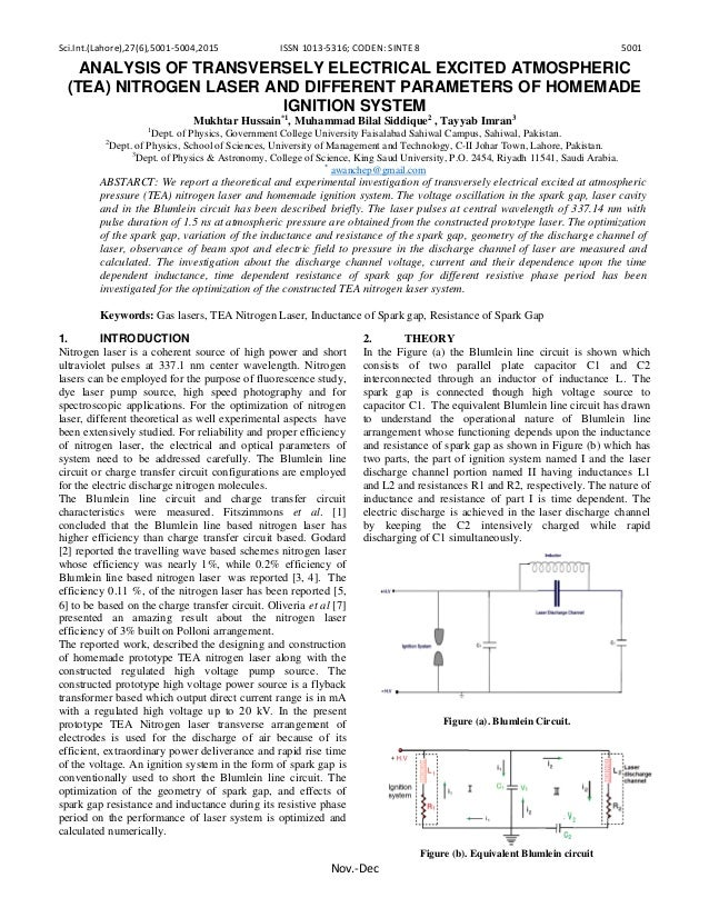 Sci.Int.(Lahore),27(6),5001-5004,2015 ISSN 1013-5316; CODEN: SINTE 8 5001 Nov.-Dec ANALYSIS OF TRANSVERSELY ELECTRICAL EXC...