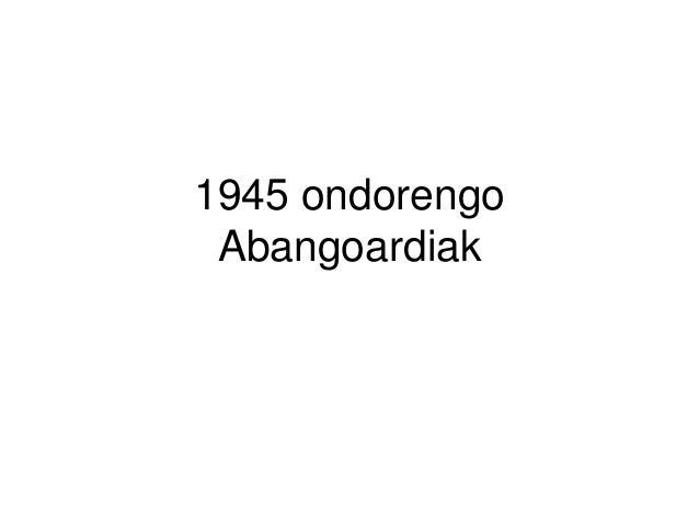 1945 ondorengo Abangoardiak