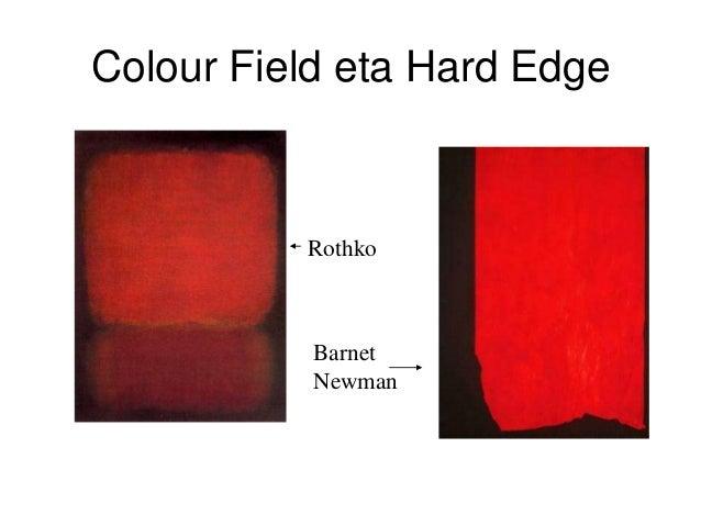 Colour Field eta Hard Edge Rothko Barnet Newman