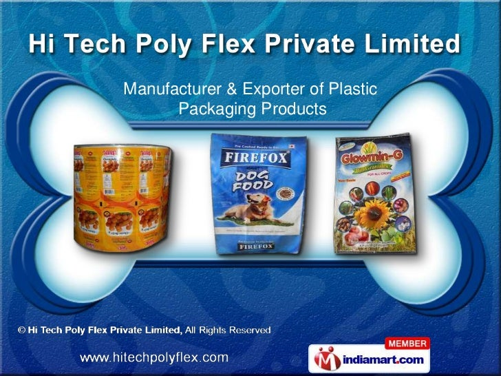 Manufacturer & Exporter of Plastic      Packaging Products