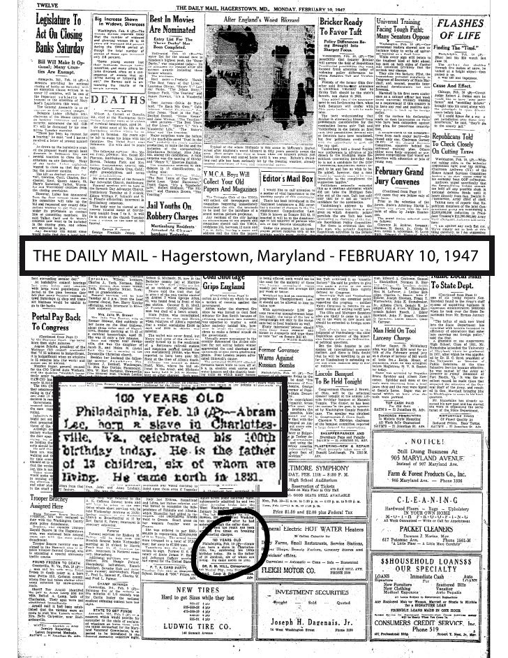 THE DAILY MAIL - Hagerstown, Maryland - FEBRUARY 10, 1947
