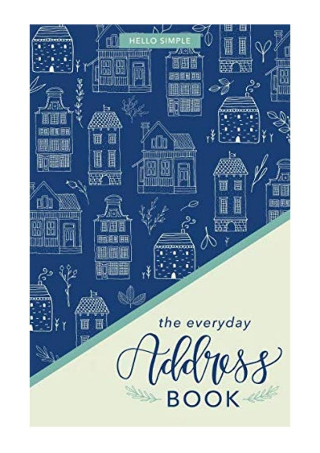 the everyday address book pdf hello simple a personal organizer for