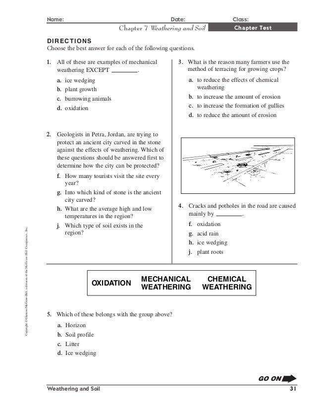 rocks and weathering worksheet Termolak – Weathering Worksheet