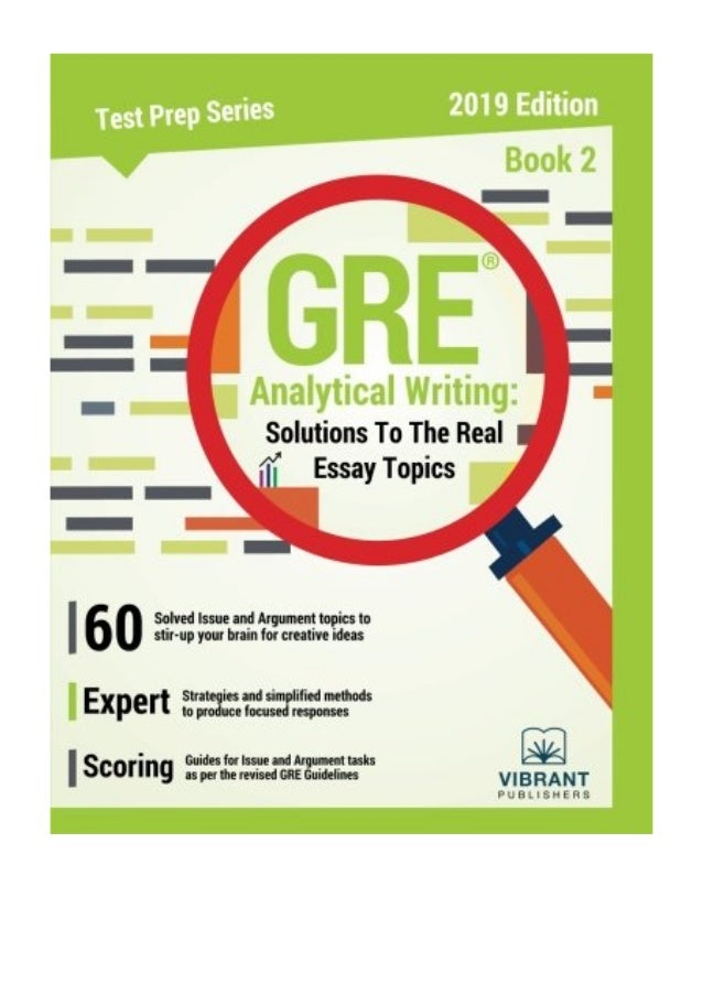 GRE Analytical Writing PDF Vibrant Publishers Solutions To The Real