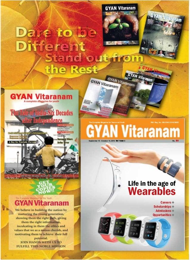    GYAN VitaranamSeptember 15 - October 14, 2016 5   GYAN VitaranamSeptember 15 - October 14, 2016 1 Careers u Scholarship...