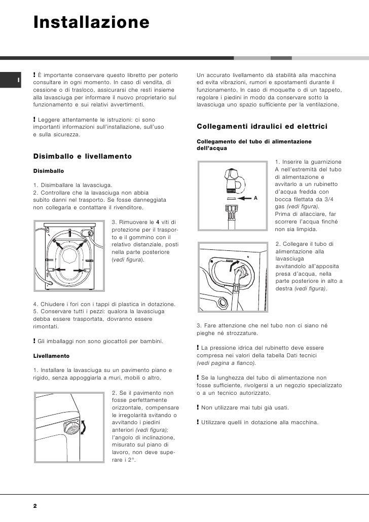 Manuale Di Istruzioni Lavatrice Hotpoint Ariston
