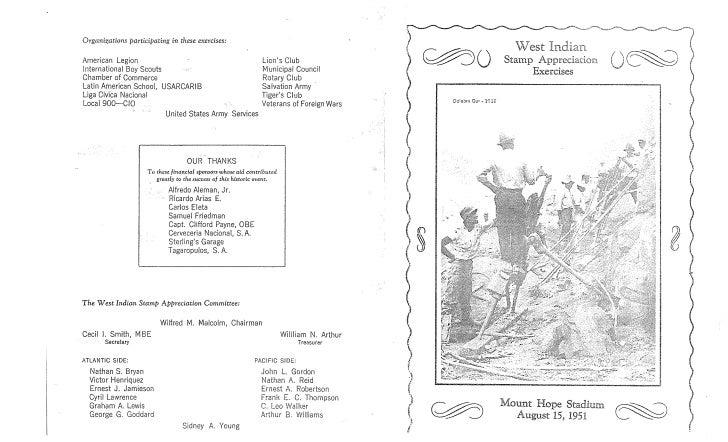 1951  mount hope west indian stamp appreciation exercises
