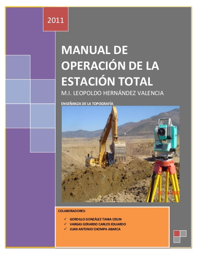 1953789285 manual de operacion de estacion total for Manual de acuicultura pdf